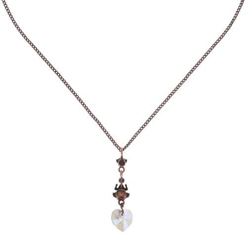 Konplott Little Frog Prince Halskette mit Anhänger in weiß #5450543708607