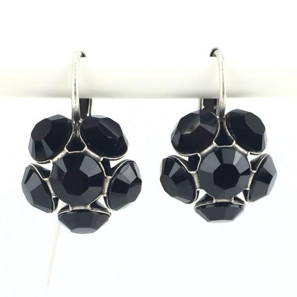 Konplott Disco Balls schwarze Ohrhänger mit Klappverschluss #5450527598569