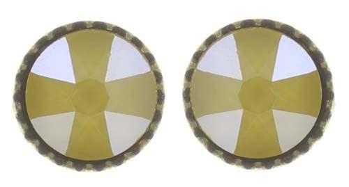 Konplott Black Jack Ohrstecker klassisch klein in gelb crystal buttercup #5450543730813
