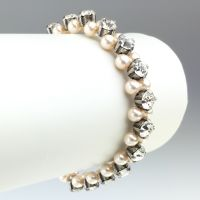 Konplott Pearl Shadow crystal Armband elastisch (L)