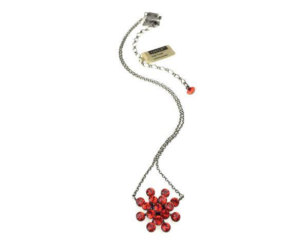 Konplott Magic Fireball Halskette mit Anhänger in hyacinth, rot/orange #5450527640367