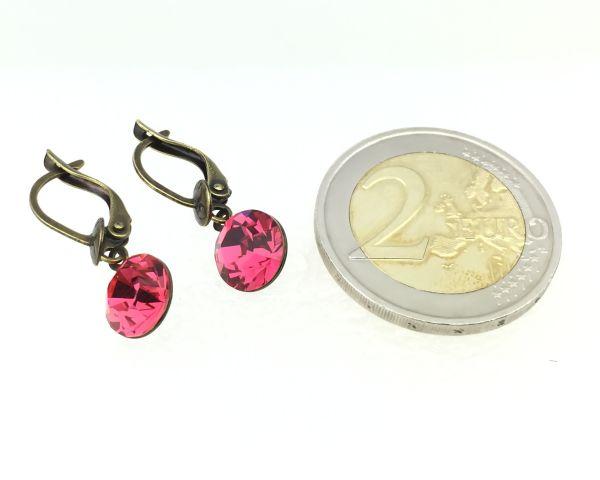 Konplott Black Jack Ohrhänger mit längl. Verschluss in indian pink #5450527612319