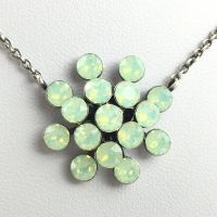 Magic Fireball grün opal Halskette mit Anhänger