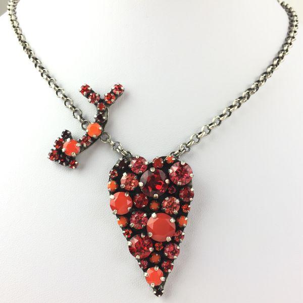 Konplott You Missed It rote Halskette mit Anhänger Herz, Pfeil #5450543472003