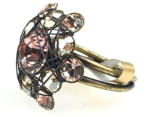 Konplott Bended Lights Ring in beige/vintage rose #5450527760034
