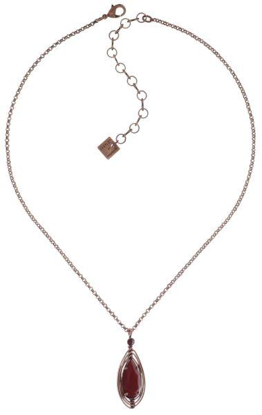Konplott Amazonia Halskette mit Anhänger in rot, Größe S #5450543760810
