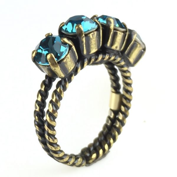 Konplott Colour Snake Ring in Indicolite, blau #5450527256896
