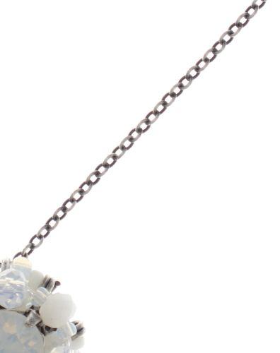 Konplott Beat of the Beads Halskette mit Anhänger in weiß #5450543718866