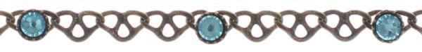 Konplott Festival Anklet Fußkette in blau/grün Messing #5450543747415
