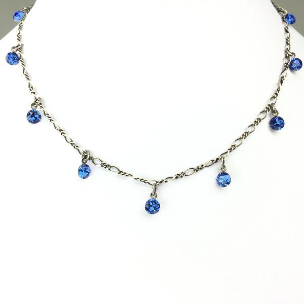 Tutui sapphire Halskette steinbesetzt