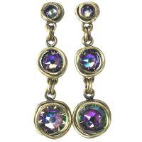 Konplott Sparkle Twist lila crystal paradise shine Ohrstecker hängend kurz #5450543251912