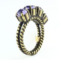 Konplott Colour Snake Ring in Tanzanite, violett