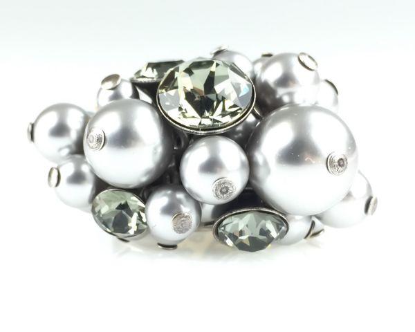 Konplott Pearl Shadow black diamond Ring #5450527480864