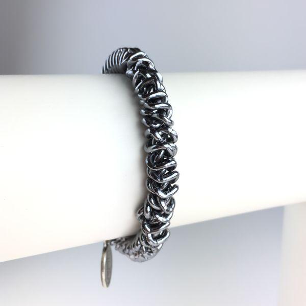 Konplott Bead Snakes elastisches Armband in Grau glänzend #5450543621777