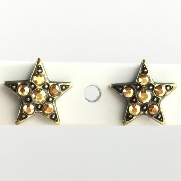 Konplott Dancing Star steinbesetzte Ohrstecker gold Stern #5450543622323