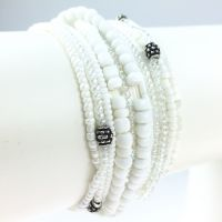 Petit Glamour d´ Afrique weißes Armband elastisch