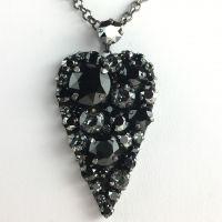 Konplott You Missed It schwarze Halskette mit Anhänger groß Herz #5450543496726