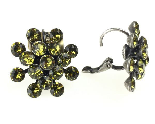 Konplott Magic Fireball Ohrhänger mit Klappverschluss in khaki #5450527640305