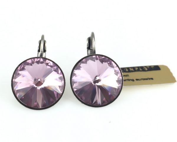 Konplott Rivoli light amethyst Ohrhänger mit Klappverschluss rosa/lila #5450527613040