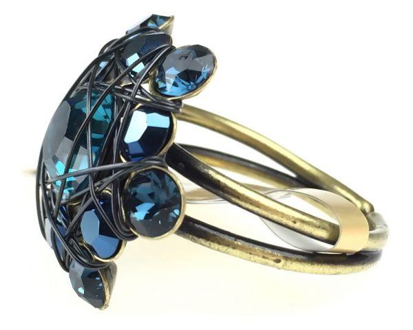 Konplott Bended Lights Ring in Blau #5450527759922
