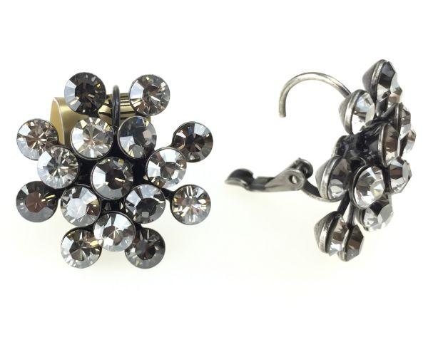 Konplott Magic Fireball Ohrhänger mit Klappverschluss in crystal satin/ crystal silver shade #5450527778350