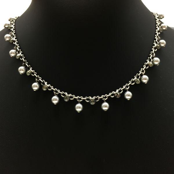 Konplott Pearl Shadow black diamond Halskette steinbesetzt #5450527480741
