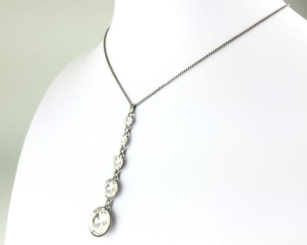 Konplott Rivoli crystal weiße Halskette in Y-Form #5450527558167