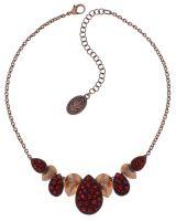 Konplott Tears of Joy steinbesetzte Halskette in coralline scarlet rot