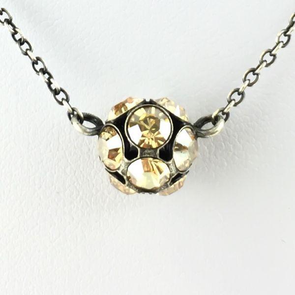 Konplott Disco Balls crystal golden shadow Halskette mit Anhänger M #5450527640688