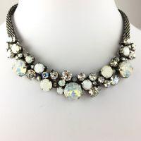 Konplott Ballroom Classic Glam weiße Halskette steinbesetzt #5450543471402