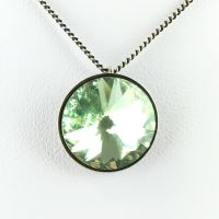 Rivoli chrysolite Halskette mit Anhänger hellgrün
