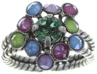 Caviar Treasure Ring in pastel multi