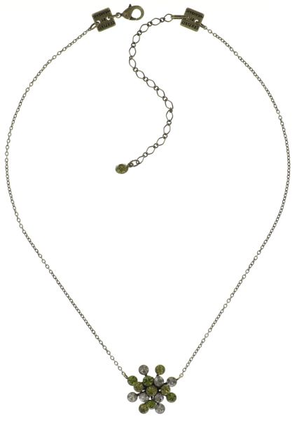 Konplott Magic Fireball Halskette mit Anhänger grün/ kristall #5450543683058