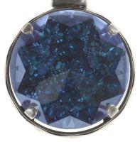 Medieval Pop Halskette lang mit Anhänger XL Stein blau