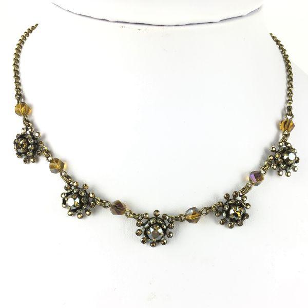 Konplott Pool-Side Flower braune Halskette steinbesetzt #5450543451473