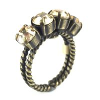 Colour Snake Ring in Crystal Golden Shadow