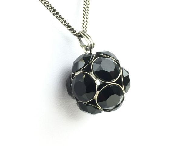 Konplott Disco Balls schwarze Halskette lang mit Anhänger L #5450527598514