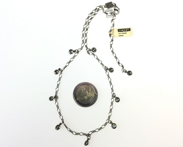 Konplott Tutui black diamond Halskette steinbesetzt #5450527610179