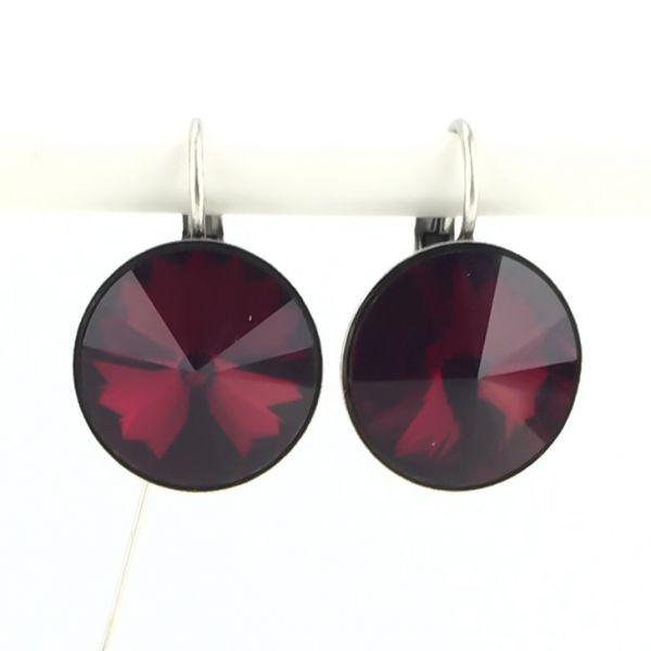 Rivoli rote Ohrhänger mit Klappverschluss