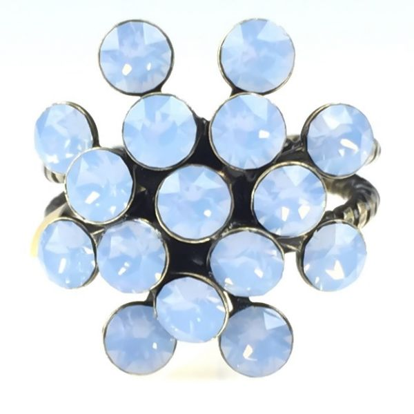 Konplott Magic Fireball air blue opal 16 Stein Ring #5450543133393