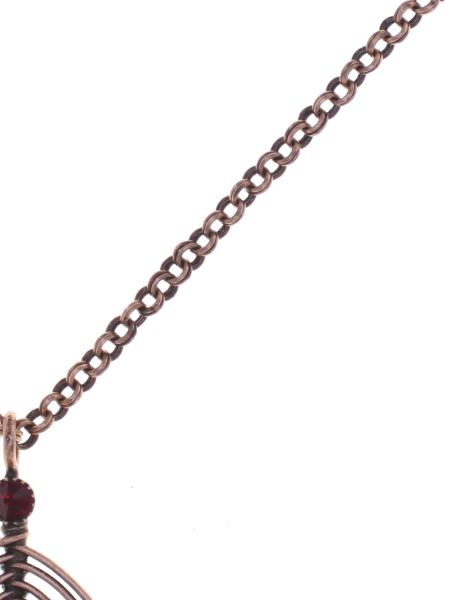 Konplott Amazonia lange Halskette mit Anhänger in rot, Größe L #5450543753300