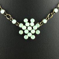 Konplott Magic Fireball chrysolite grün opal Halskette steinbesetzt