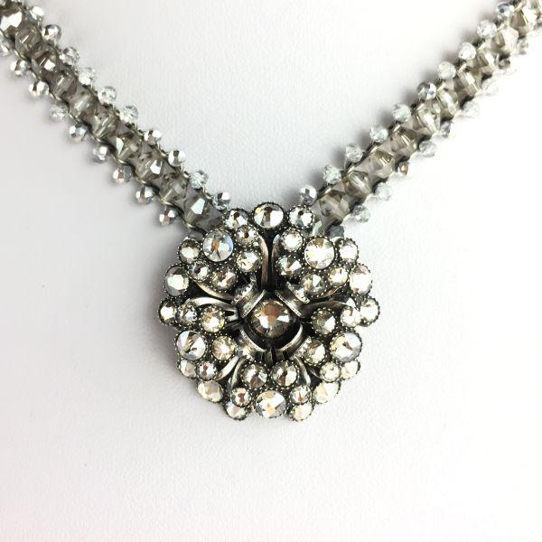 Konplott MyRouge graue Halskette steinbesetzt #5450543630304