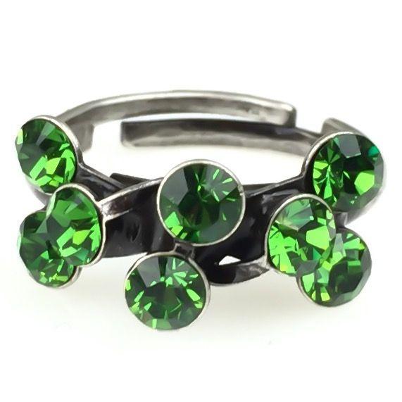 Konplott Magic Fireball 8 Stein Ring in fern green #5450527778312