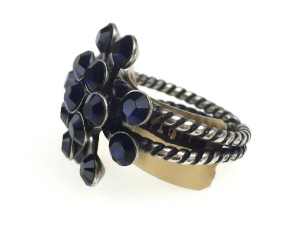 Konplott Magic Fireball 16 Stein Ring in dark indigo, dunkelblau #5450527611800