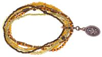 Petit Glamour  d'Afrique Armband in gelb