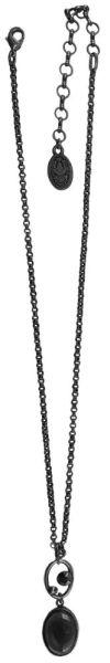 Konplott Oval in Concert Halskette mit Anhänger in braun #5450543703831