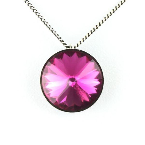 Rivoli fuchsia Halskette mit Anhänger, pink