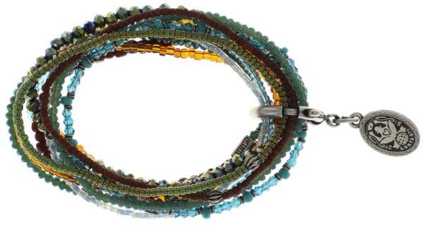 Konplott Petit Glamour d'Afrique Armband braun/ grün/ blau #5450543689432