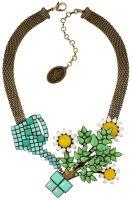 Konplott Sunflower Halskette in gelb/weiß/grün